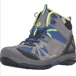 Merrell Boys Mid Waterproof Hiking Boot